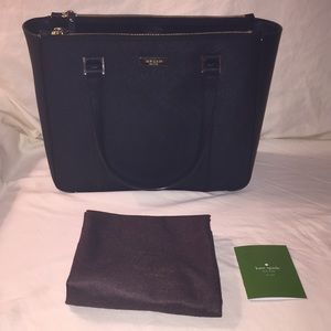 NWOT Kate Spade Black Saffiano Shoulder Bag / Tote
